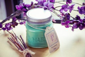 Rosemary Pine 8oz Mason Jar candle